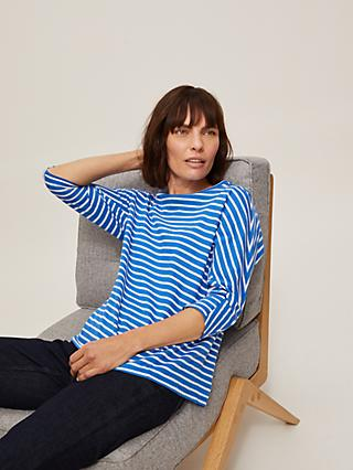 John Lewis & Partners Seam Detail Striped Top