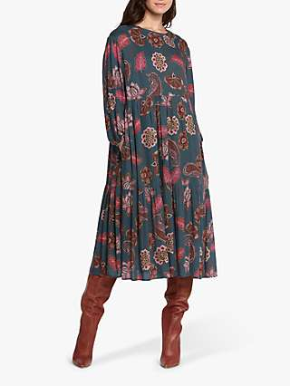 Helen McAlinden Louisa Paisley Print Dress, Multi