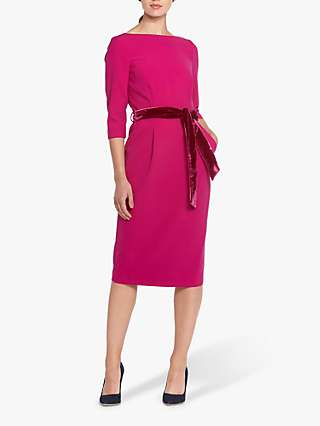 Helen McAlinden Caroline Belt Knee Length Dress, Cyclamine