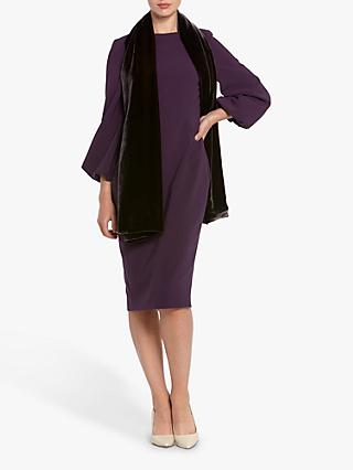 Helen McAlinden Gabbie Crepe Dress, Mulberry
