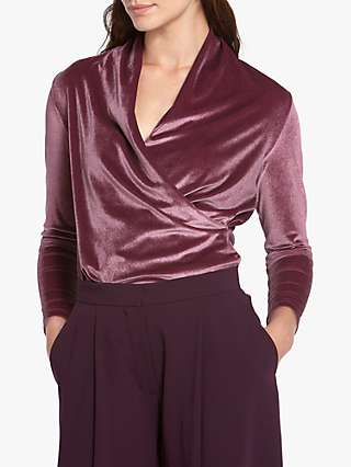 Helen McAlinden Roxanne Wrap Top, Grape