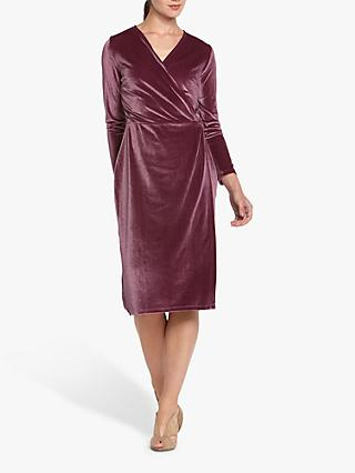 Helen McAlinden Roma Velvet Wrap Knee Length Dress