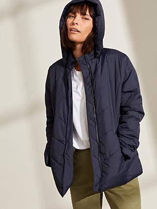 John Lewis & Partners Light Quilted Jacket, Navy