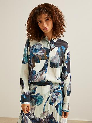 Modern Rarity Archive Bloom Print Blouse, Blue/Multi