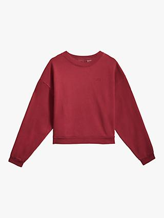Levi's Diana Embroidered Logo Crew Neck Sweatshirt, Red