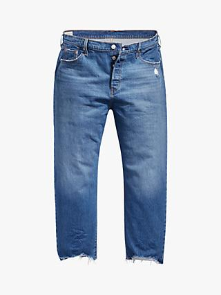 Levi's Plus 501 Original Cropped Jeans, Blue