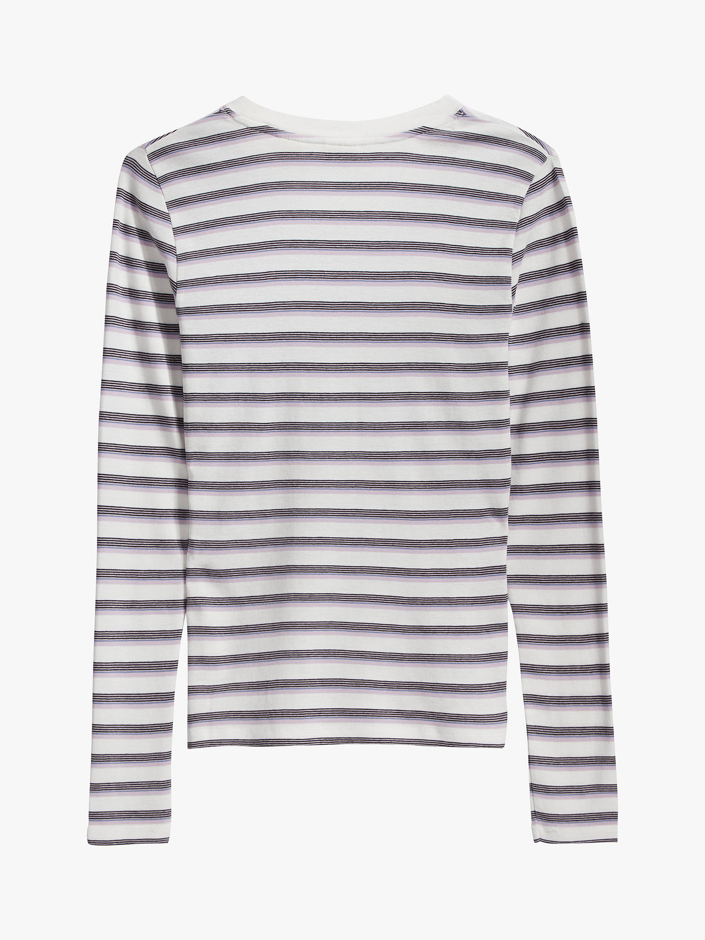 Buy Levi's Stripe Baby Long Sleeve T-Shirt, White/Multi, XS Online at johnlewis.com