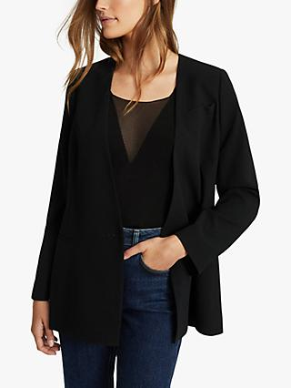 Reiss Tala Collarless Blazer, Black