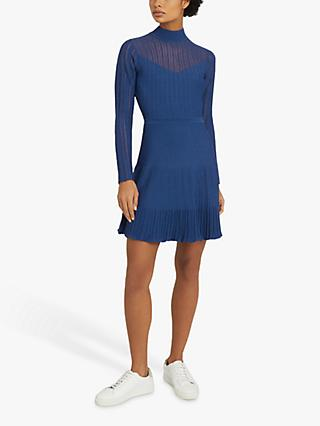 Reiss Clemmy Sheer Stripe Knitted Dress