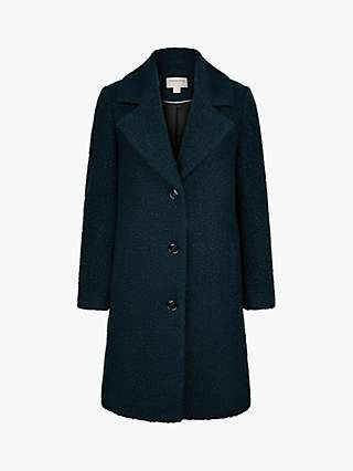 Monsoon Bella Long Pea Coat, Teal