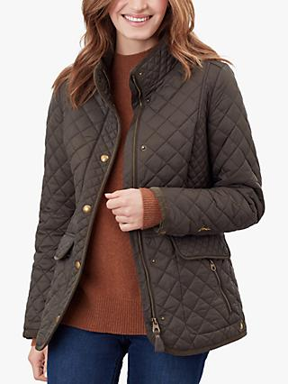 Joules Newdale Quilted Coat, Heritage Green