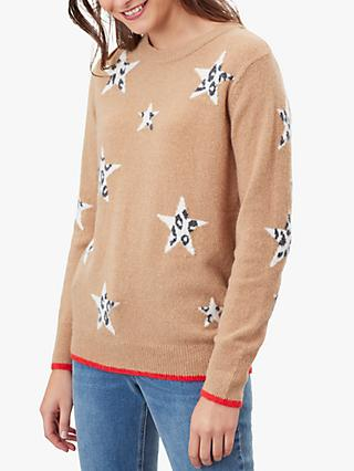 Joules Chantelle Knitted Star Intarsia Jumper
