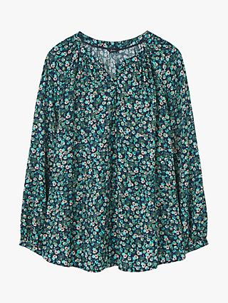 Joules Odette Floral Top, Navy Ditsy