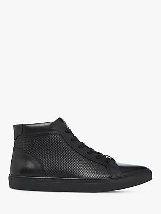 Dune Victorry Leather High Top Trainers, Black