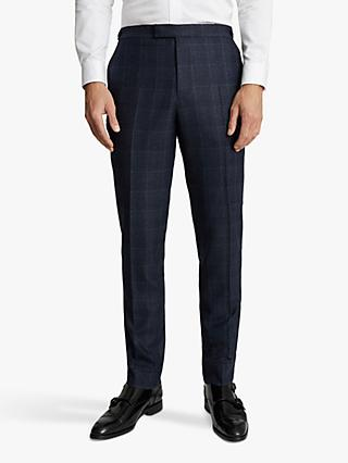 Reiss Eltham Slim Fit Check Suit Trousers, Indigo