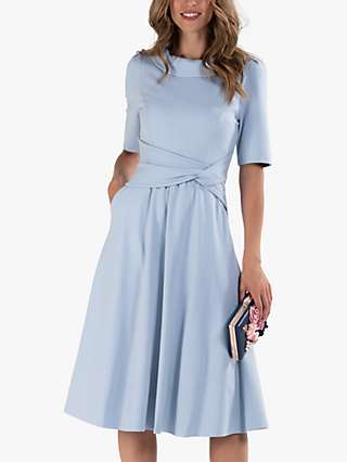 Jolie Moi Fold Over Fit and Flare Midi Dress