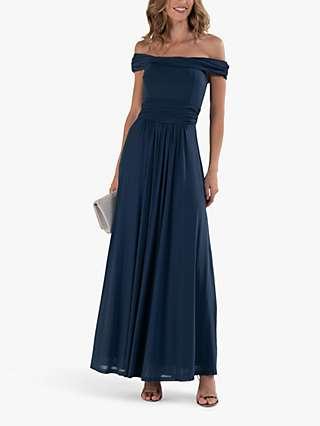 Jolie Moi Twist Bardot Maxi Dress
