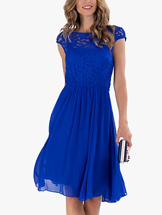 Jolie Moi Floral Lace Knee Length Dress