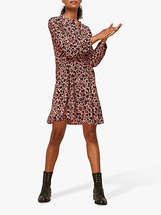 Whistles Tropical Print Mini Dress, Pink