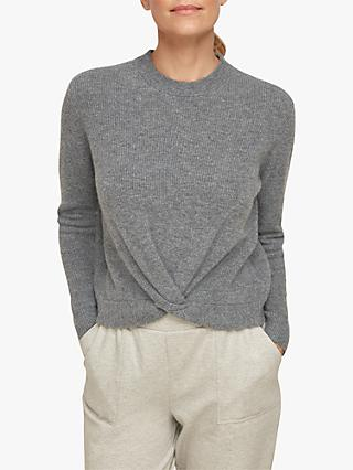 Whistles Twist Front Wool Blend Jumper