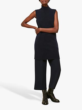 Whistles Funnel Neck Sleeveless Tunic, Navy