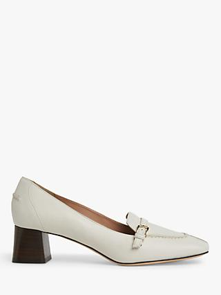 L.K.Bennett Felicity Low Block Heel Leather Court Shoes