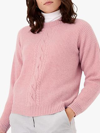 Brora Cable And Rib Cashmere Jumper, Shell