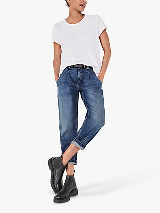 hush Barrel Leg Jeans, Blue