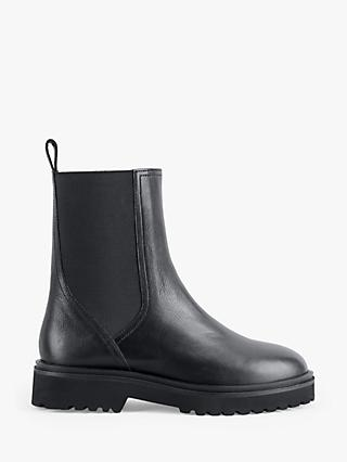 hush Nash Leather Chelsea Boots, Black