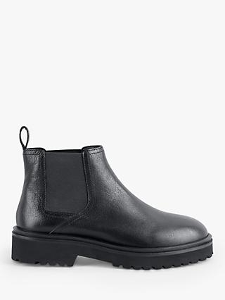 hush Lucan Leather Chelsea Boots, Black