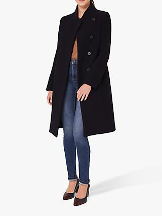 Hobbs Petite Maisie Funnel Neck Wool Coat