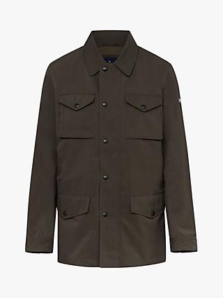 Hackett London Four Pocket Field Jacket with Removable Liner, Olive