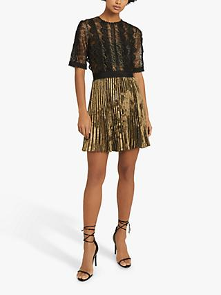 Reiss Athena Lace Dress, Black
