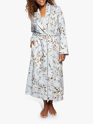 Nora Rose by Cyberjammies Juliette Floral Print Dressing Gown, Grey