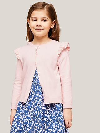 John Lewis & Partners Girls' Frill Cardigan