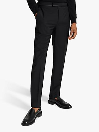 Reiss Poker Performance Modern Fit Dress Suit Trousers, Black