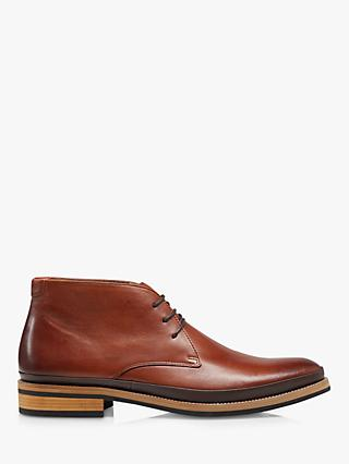 Bertie Millbank Smart Lace Up Chukka Boots, Tan