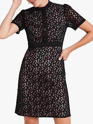 Damsel in a Dress Brair Lace Mini Dress, Black