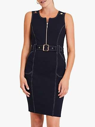 Damsel in a Dress Alisa Fitted Denim Mini Dress, Navy