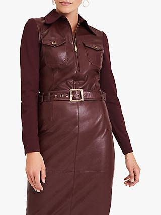 Damsel in a Dress Kadie Zip Top, Port