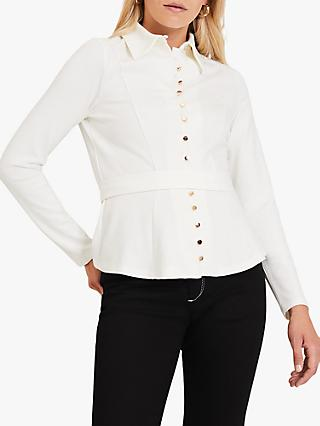 Damsel in a Dress Lanie Button Top, Ivory