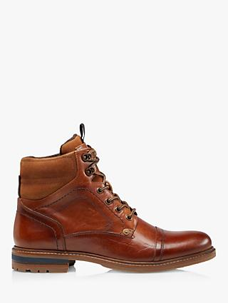 Dune Candor Toe Cap Leather Worker Boots