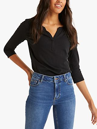 Boden The Cotton Notch T-Shirt, Black