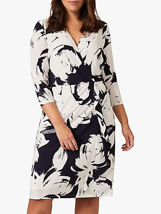 Studio 8 Drina Floral Print Knee Length Dress, Navy