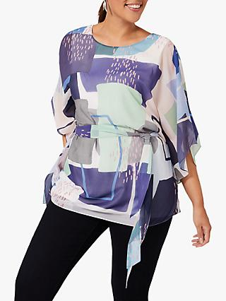 Studio 8 Janey Abstract Top, Blue/Multi