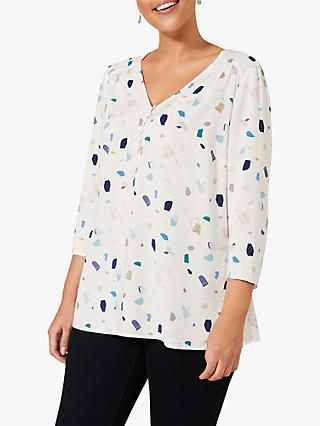 Studio 8 Jolie Abstract Top, Ivory/Multi