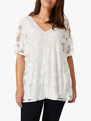 Studio 8 Michelle Floral Burnout Top, Ivory