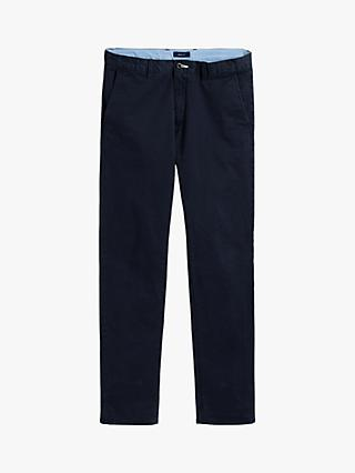 GANT Boys' Cotton Stretch Chinos, Navy