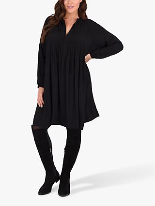 Live Unlimited Curve Pintuck Tunic Dress, Black