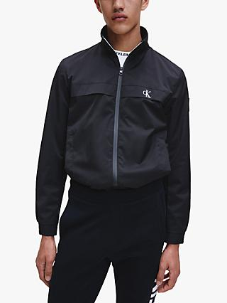 Calvin Klein Jeans Zip Up Harrington Jacket, Black